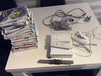 Nintendo Wii Console with all leads, controllers and games