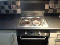 Stainless Steel Electric 4 Hotplate Hob.
