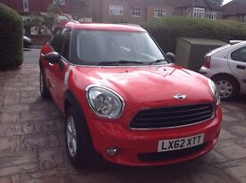 Mini Countryman One - 1.6 - dazzling red with Pepper pack, low mileage, one lady owner from new
