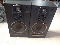 Aiwa 80 watt speakers