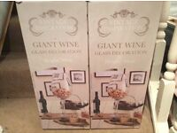 2x 50cm Giant wine glasses, ideal wedding / party / Christmas / table decorations