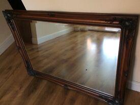 Mahogany Wood Mirror