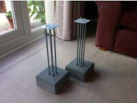 IKEA Concrete Base Speaker Stands