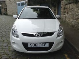 HYUNDAI I20 IN WHITE WITH VERY LOW MILEAGE IN IMMACULATE CONDITION VERY LOW TAX AND INSURANCE.FSH!