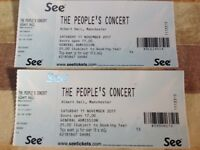 Two tickets for The People's Concert 11th November Albert Hall Manchester. British Sea Power plus 4