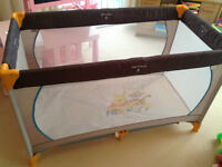 Hauck Winnie the Pooh Dream and Play Travel Cot in Cream