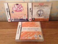 3 Brain Training Games Nintendo DS Games