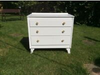 Small three drawer chest of drawers