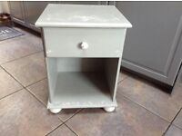 Vintage shabby chic bedside table