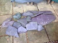 Rockery garden Welsh slates