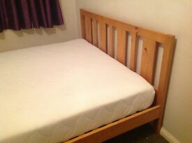 King Size Bed & Memory Foam Mattress - Only used once!