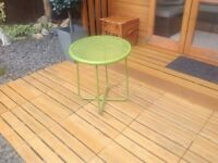 Metal garden table