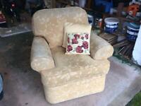 "Marks & Spencer Armchair 38""width in Gold"