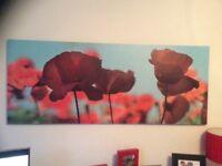 Ikea poppy canvas