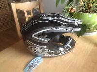 Wulfsport Motorcycle crash helmet motocross style as new with tags never worn size medium £20