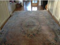 chinsese wool rug. 9ft X 6ft,