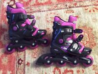 No Fear girls inline skates size 1-4 brand new used 5 minutes