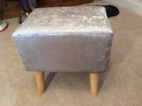 Silver coloured stool brand new