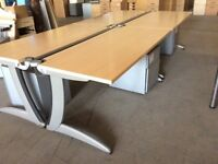 Four Beech Rectangle Desks