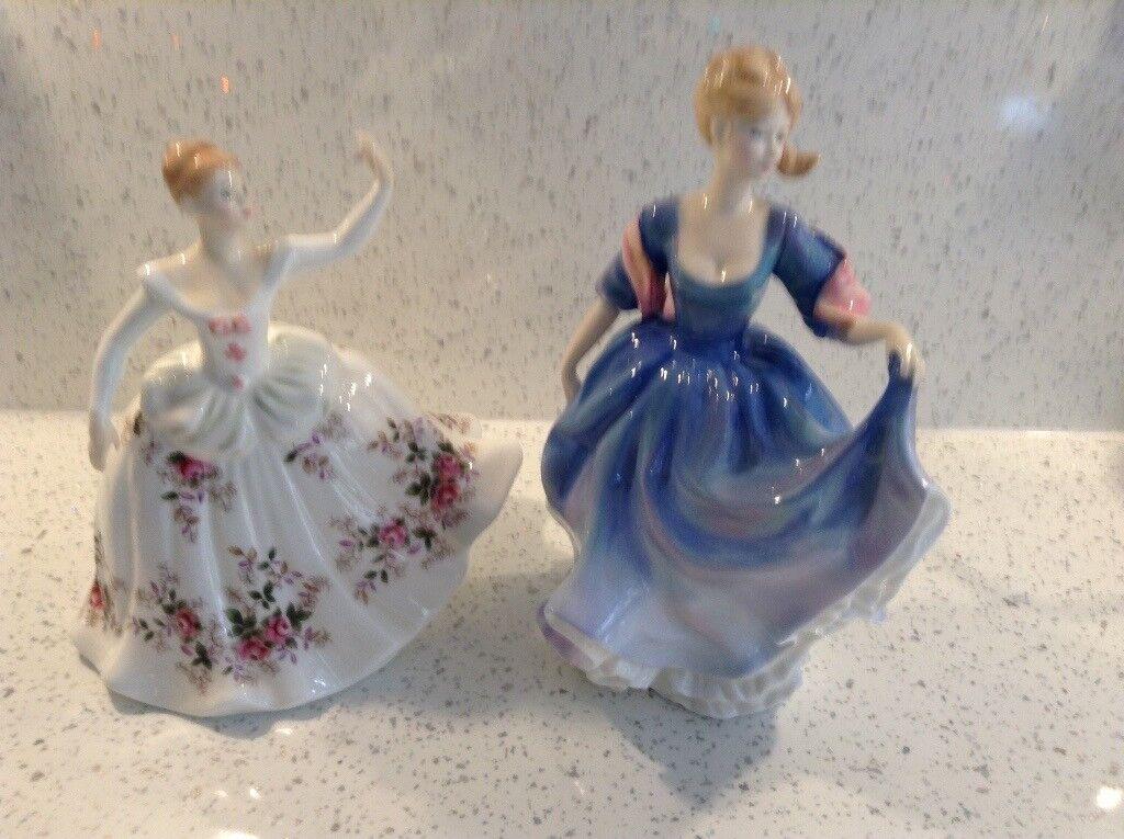 Doulton figures. Elizabeth and Shirley