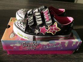 Girls Skechers light up shoes