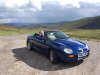 MGF Sports Car - Including Hard Top, Low Milage, MOT, Original Service and Handbook, Rust Proofed