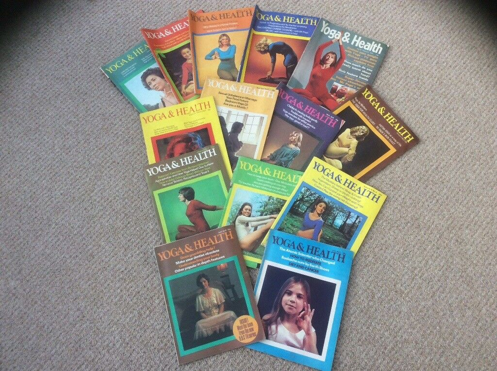 "Vintage 1970s ""Yoga for health"" magazines"