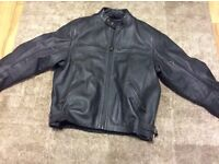 * Triumph * Leather Motorcycle Jacket - size XL