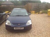 Dark blue 2001 Honda Civic for sale