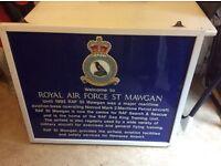Large Royal Air Force st mawgan sign