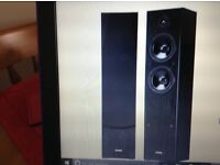 Yamaha Ns f51 floor standing speakers . Black . Open boxed but brand new and unused