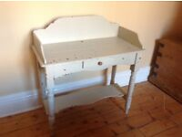Vintage washstand. Nicely weathered with small draw