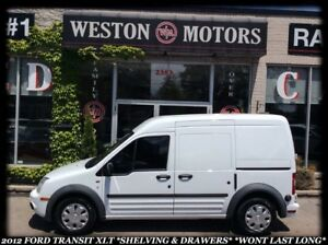 2012 Ford Transit Connect XLT *SHELVING & DRAWERS *WONT LAST LON
