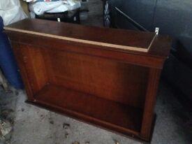 Bookcase/ Display cabinet wall or low floor mahogany veneer