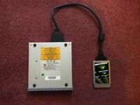 Amacom portable pcmcia cd drive