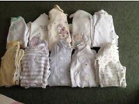 Baby sleepsuits.