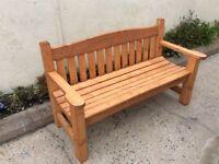 Brand new handmade wooden garden bench. 4.6 ft x 20 inches & 6 slats. Seating designed for comfort