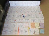 Happy Birthday Hand stitched cards