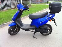 TGB 202 50cc Scooter 2004 with top box for Spares or Repairs Running cheap project to clear £150