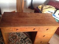 Free solid oak desk. Minor water stain (see pic)
