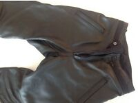 Female Hein Gericke leather motorcycle trousers