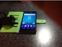 For sale a black Sony expria 16gb mobile phone