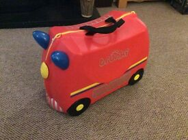 Trunki Frank The Fire Engine Ride On Kids Suitcase
