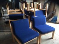 Eight Blue Reception Chairs