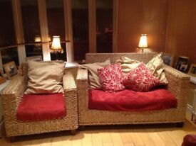 Sunroom Two seater sofa and chair