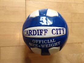 Signed Cardiff Cit's football circa 2003-04
