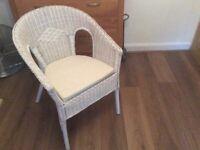 Wicker bedroom chair