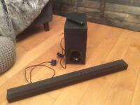 Sony Ht - Ct 180 sound bar and wireless sub woofer