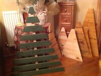 Hand made pallet Christmas trees