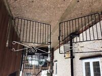 Pair of wrought iron double gates